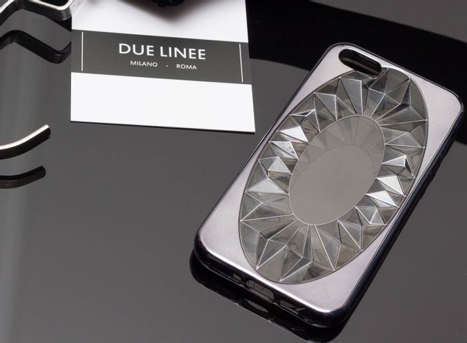 Case for iPhone 5/5S/SE Due Linee - Grey