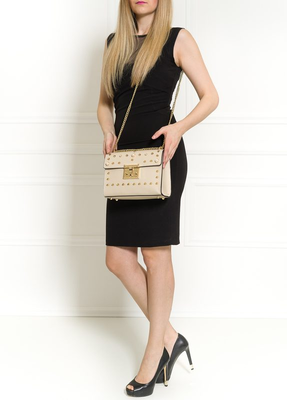 Real leather crossbody bag Glamorous by GLAM - Beige