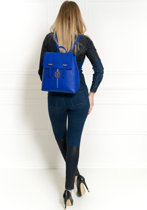 Women's real leather backpack Glamorous by GLAM - Blue