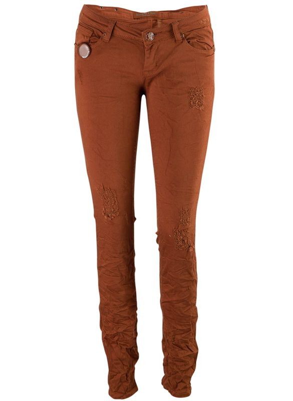 Women's jeans Due Linee - Brown