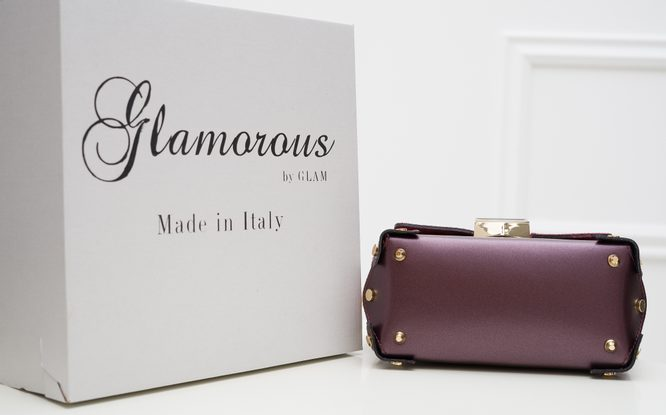Real leather crossbody bag Glamorous by GLAM - Wine