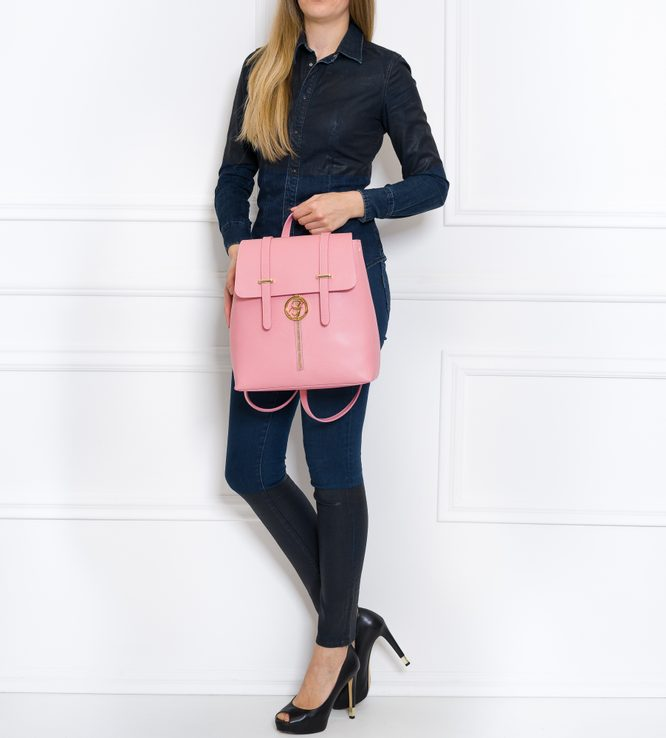 Women's real leather backpack Glamorous by GLAM - Pink