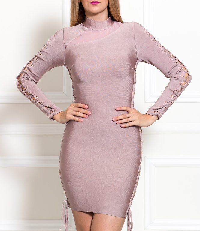Bandage dress Due Linee - Pink