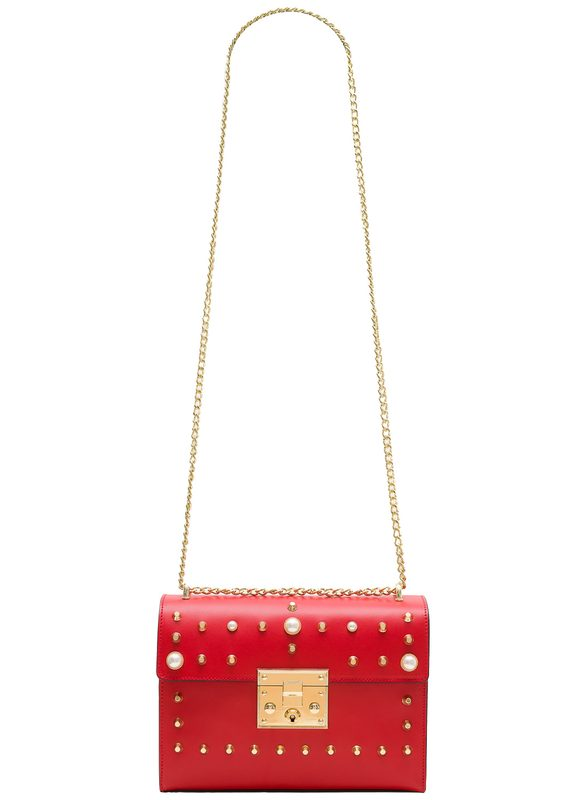 Real leather crossbody bag Glamorous by GLAM - Red