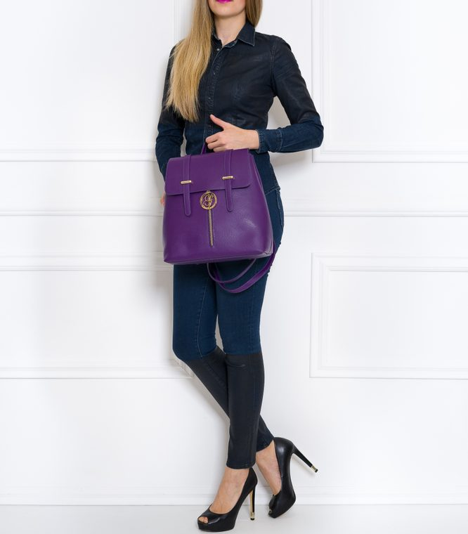 Women's real leather backpack Glamorous by GLAM - Violet