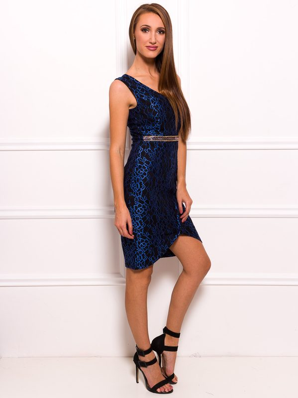 Lace dress Due Linee - Blue