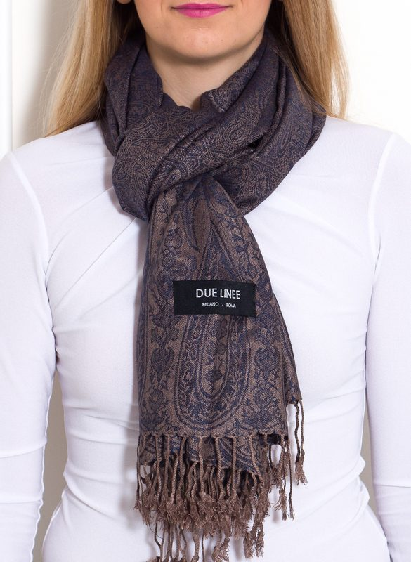 Women's scarf Due Linee - Blue