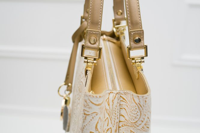Real leather handbag Glamorous by GLAM - Gold