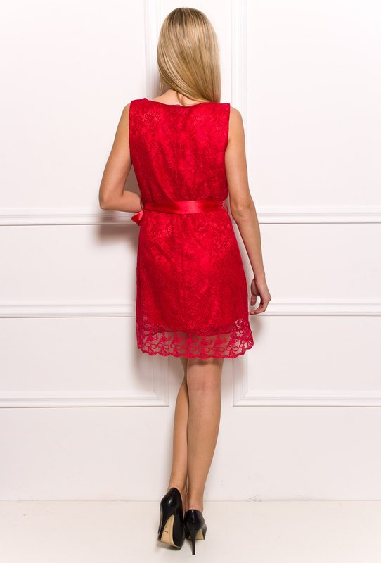 Lace dress Glamorous by Glam - Red