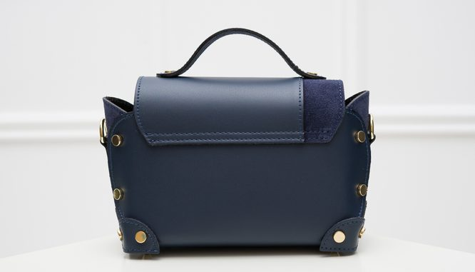 Real leather crossbody bag Glamorous by GLAM - Dark blue