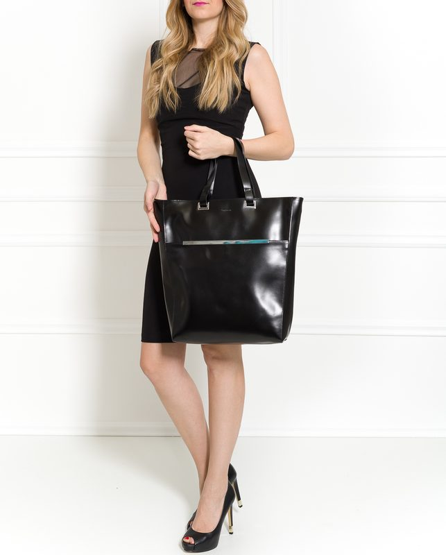 Real leather shoulder bag Guy Laroche Paris - Black