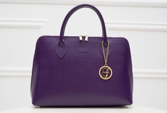 Real leather handbag Glamorous by GLAM - Violet