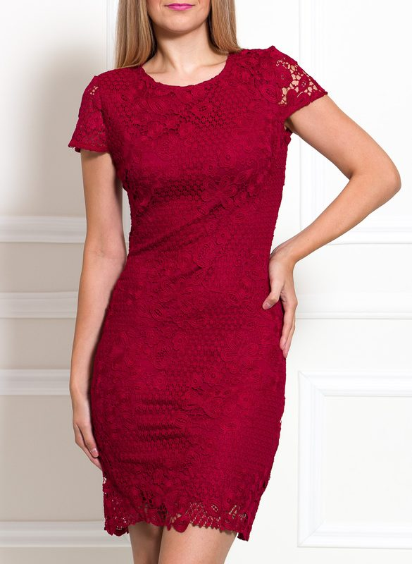 Lace dress Due Linee - Wine