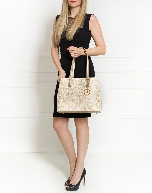 Real leather shoulder bag Glamorous by GLAM - Gold