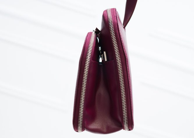 Real leather handbag Guy Laroche Paris - Wine