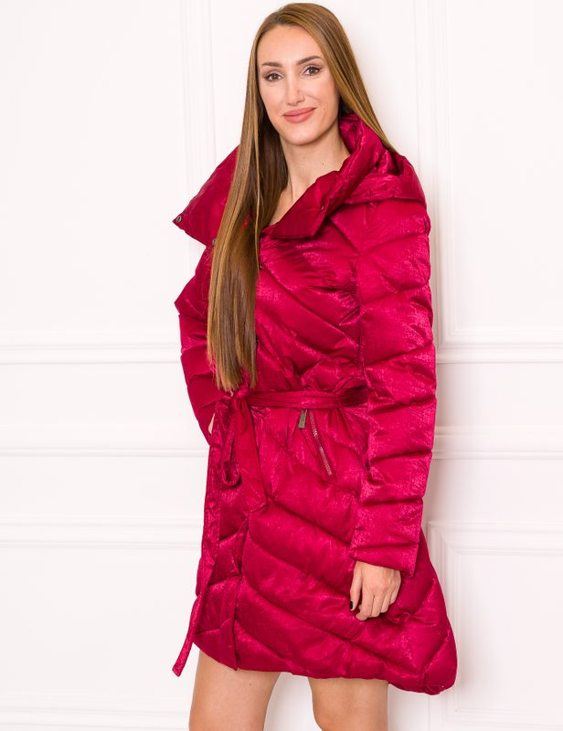 Women's winter jacket Due Linee - Wine