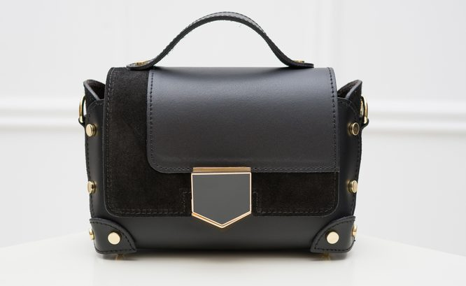 Real leather crossbody bag Glamorous by GLAM - Black