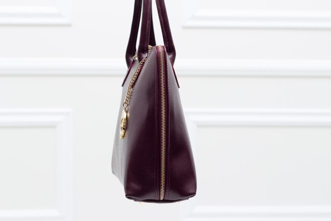 Real leather handbag Glamorous by GLAM - Wine