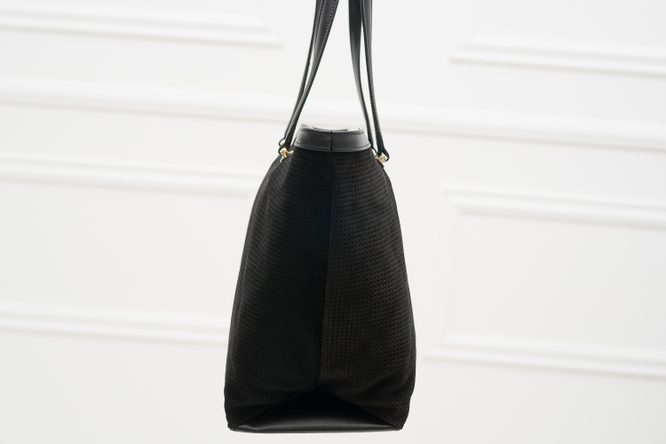 Real leather shoulder bag Cavalli Class - Black