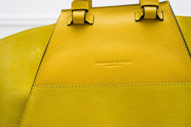 Real leather shoulder bag Glamorous by GLAM - Yellow