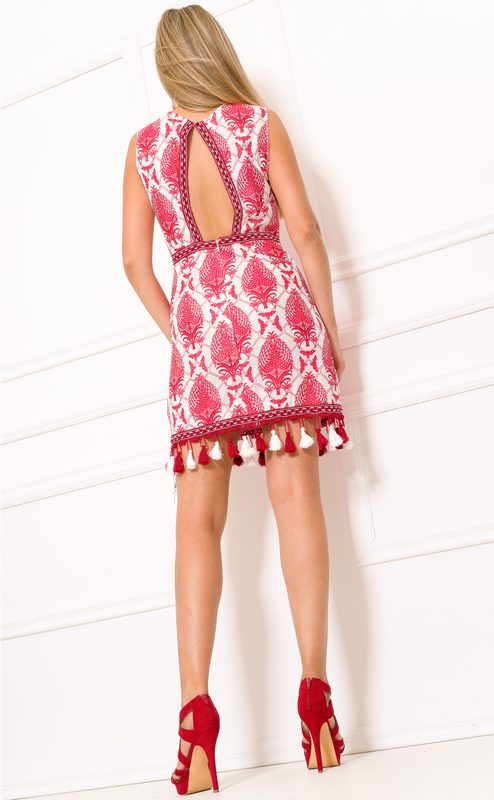 Summer dress Due Linee - Red