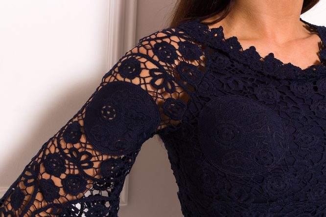 Lace dress Due Linee - Dark blue