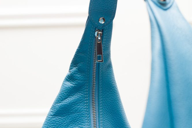 Real leather shoulder bag Glamorous by GLAM - Blue