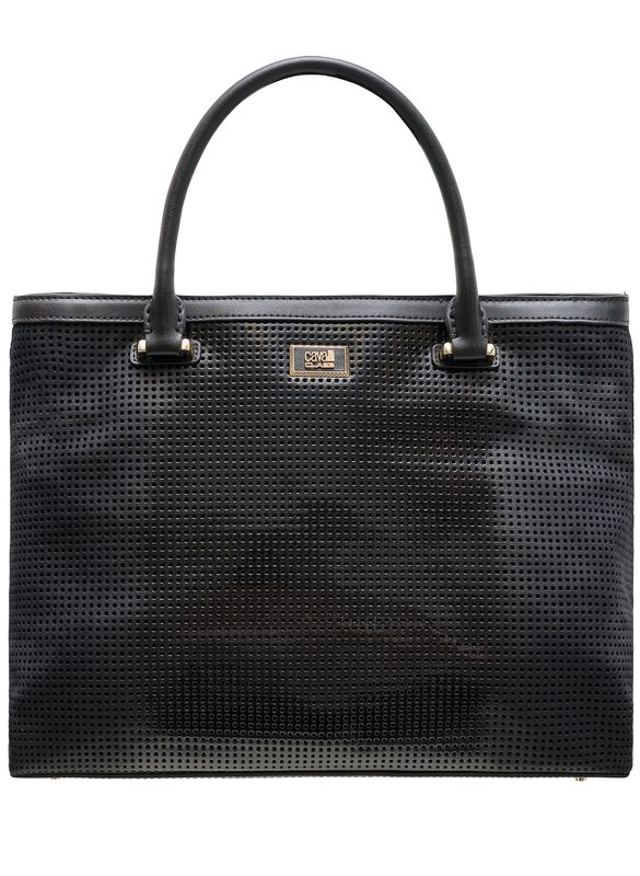 Real leather handbag Cavalli Class - Black