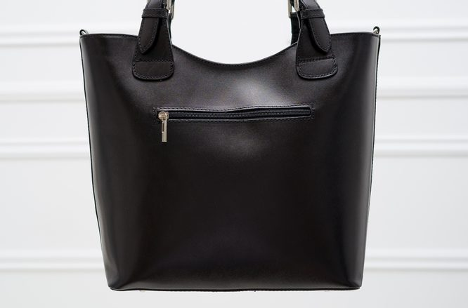 Real leather handbag Glamorous by GLAM - Black