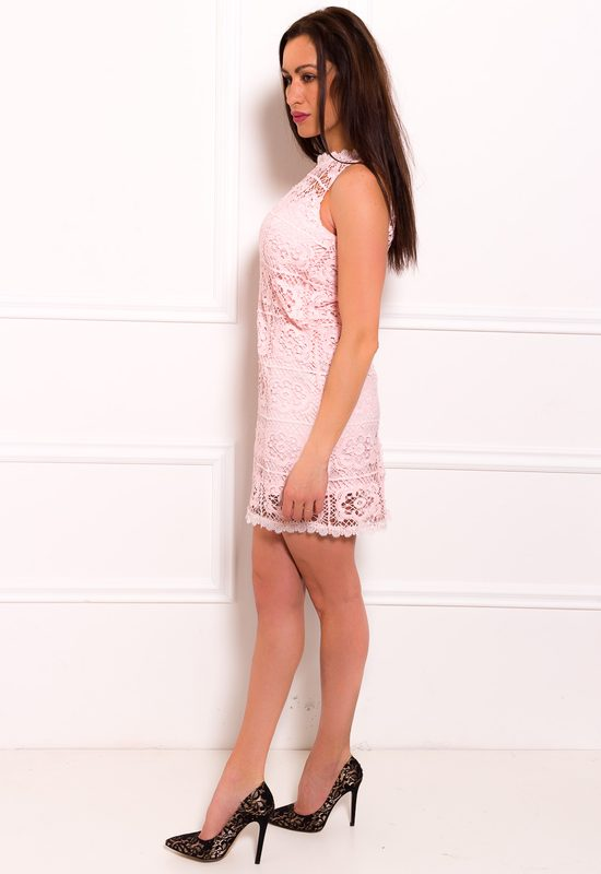 Lace dress Due Linee - Pink