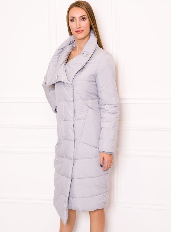 Women's winter jacket Due Linee - Grey