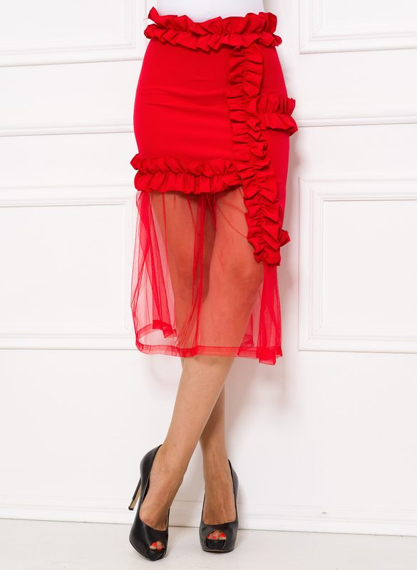 Skirt Due Linee - Red
