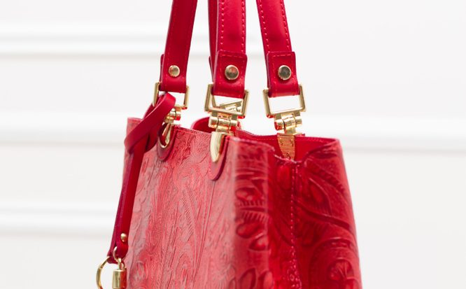 Real leather handbag Glamorous by GLAM - Red