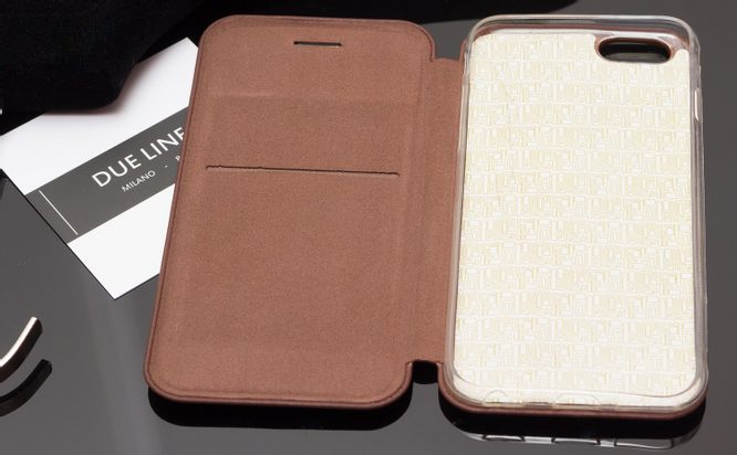 Case for iPhone 6/6S Due Linee - Brown