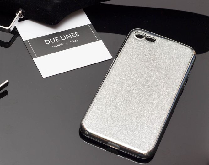 Case for iPhone 7/8 Due Linee - Silver
