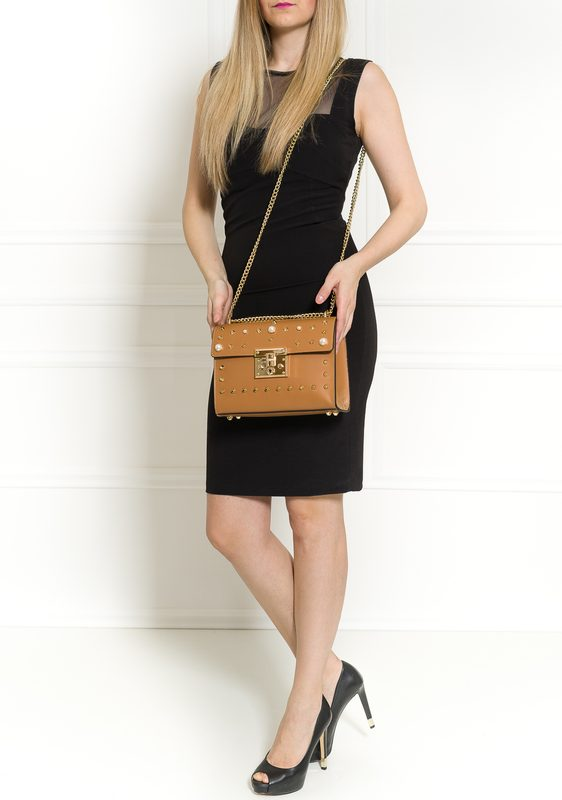 Real leather crossbody bag Glamorous by GLAM - Brown