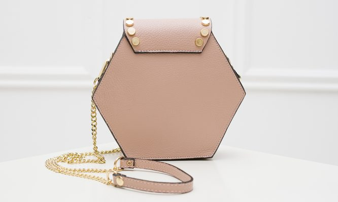 Real leather crossbody bag Glamorous by GLAM - Pink