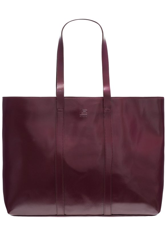 Real leather shoulder bag Guy Laroche Paris - Wine