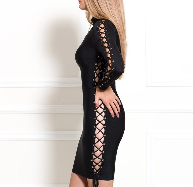 Bandage dress Due Linee - Black