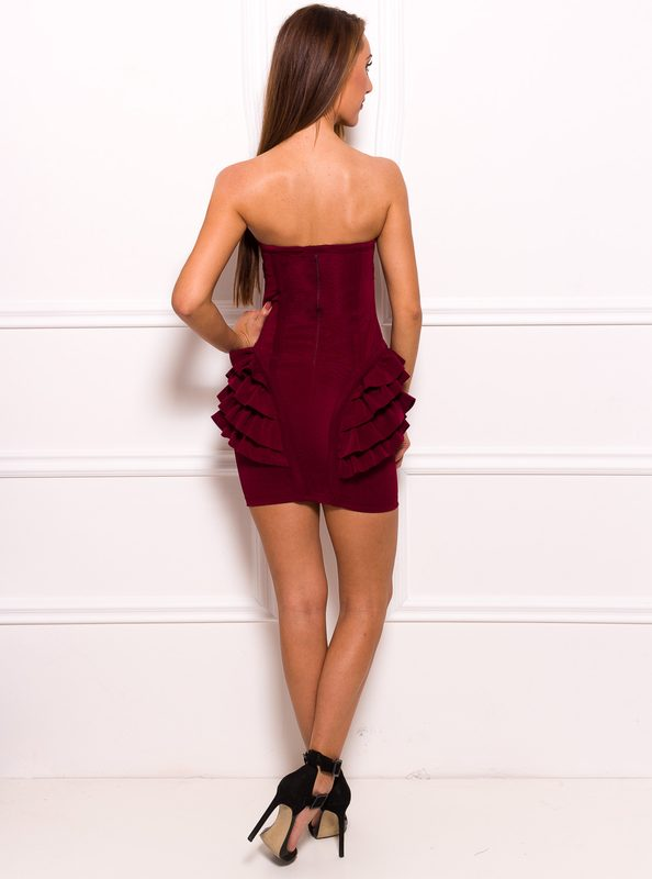 Bandage dress GLAM&GLAMADISE - Wine
