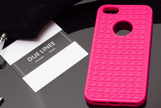 Case for iPhone 5/5S/SE Due Linee - Pink