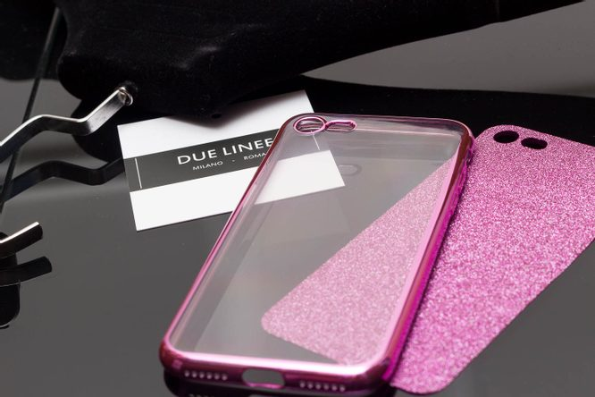 Case for iPhone 7/8 Due Linee - Pink