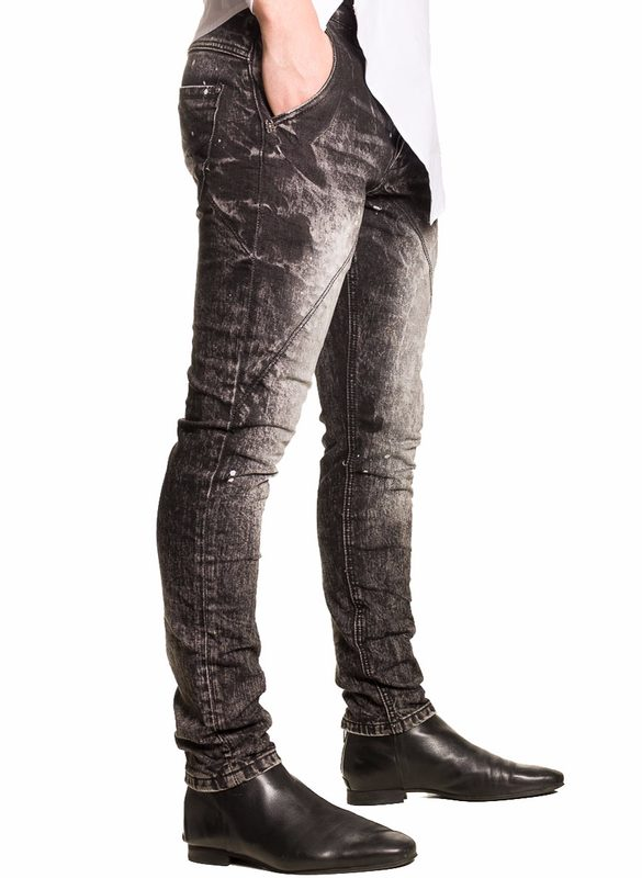 Men's jeans  - Black-white