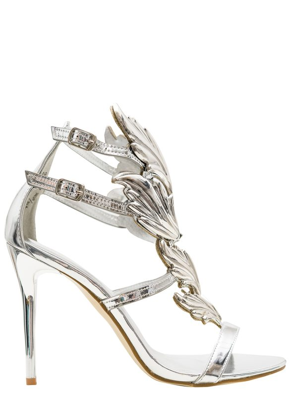 Women's sandals GLAM&GLAMADISE - Silver