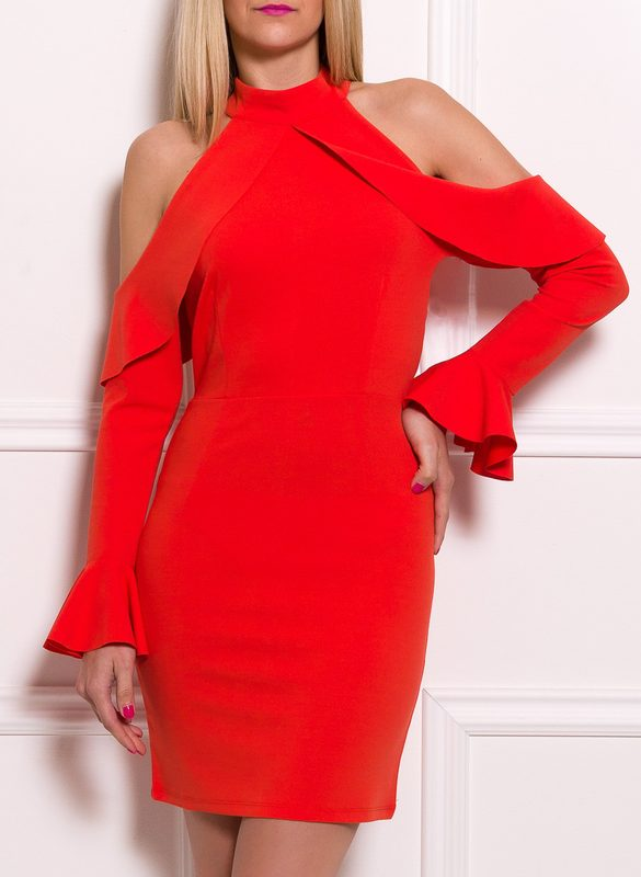 Italian dress Due Linee - Orange