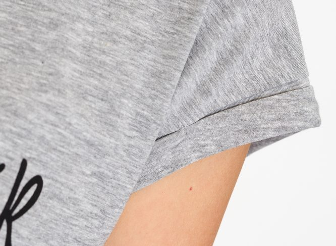 Women's T-shirt Due Linee - Grey