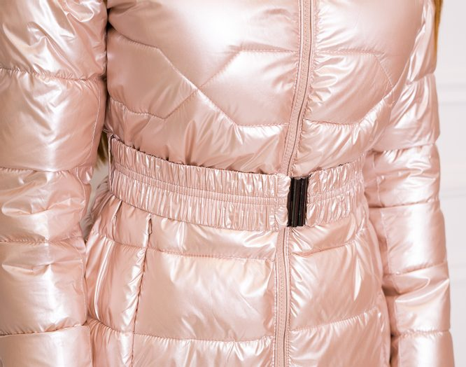 Women's winter jacket Due Linee - Pink