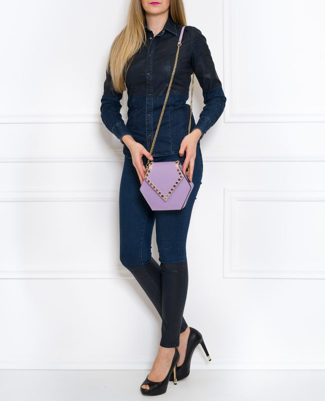 Real leather crossbody bag Glamorous by GLAM - Violet