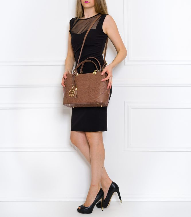 Real leather handbag Glamorous by GLAM - Brown
