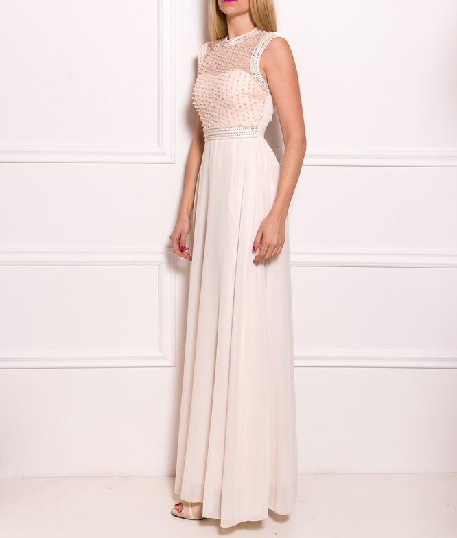 Maxi dress Due Linee - Creme